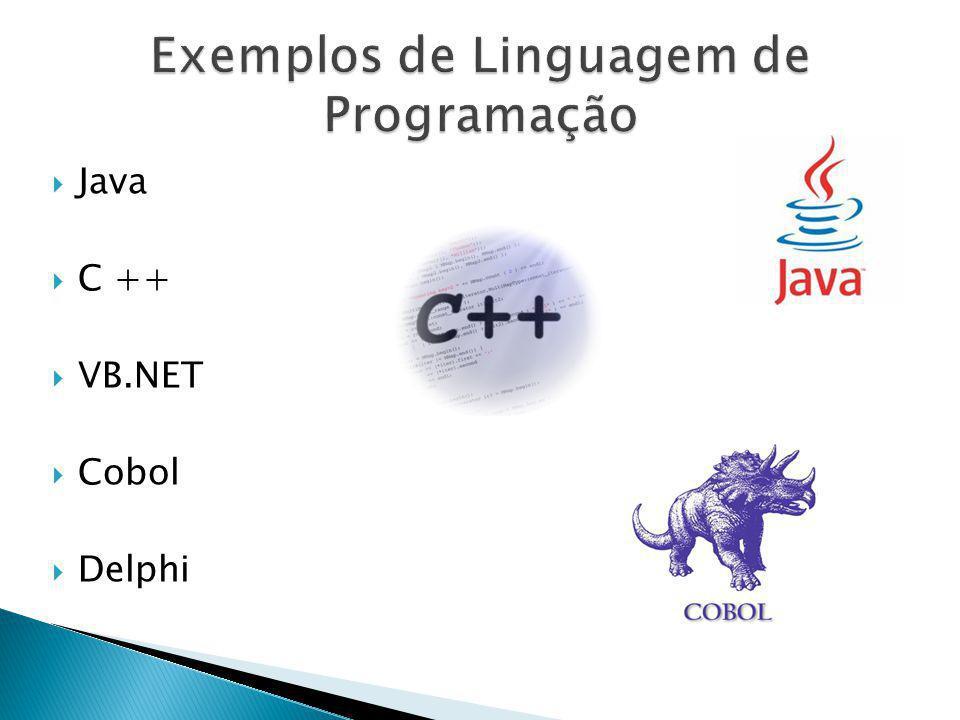 Java C ++ VB.NET Cobol Delphi