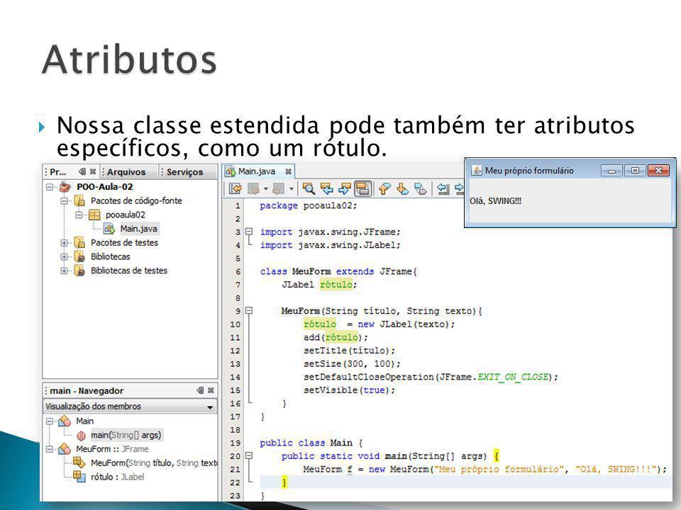 Nossa classe estendida pode também ter atributos específicos, como um rótulo. prof. Ricardo Pupo Larguesa304