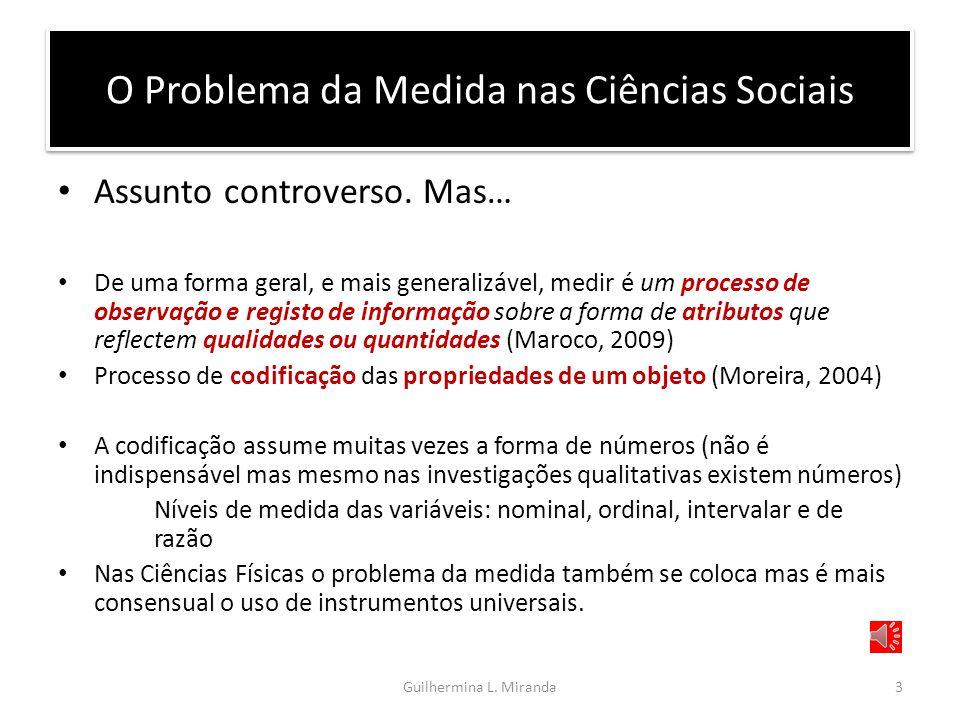 O Problema da Medida nas Ciências Sociais Assunto controverso.