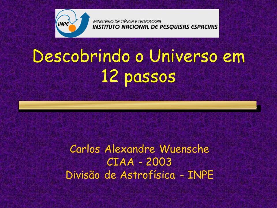 Descobrindo o Universo em 12 passos Carlos Alexandre Wuensche CIAA - 2003 Divisão de Astrofísica - INPE