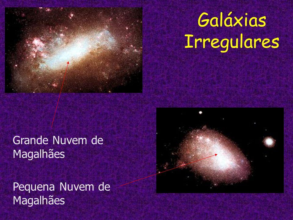 Galáxias Irregulares Grande Nuvem de Magalhães Pequena Nuvem de Magalhães