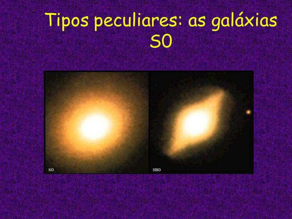 Tipos peculiares: as galáxias S0