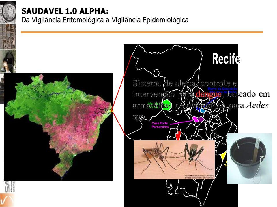 Sistema de alerta, controle e intervenção para dengue, baseado em armadilhas de oviposição para Aedes spp SAUDAVEL 1.0 ALPHA : Da Vigilância Entomológica a Vigilância Epidemiológica