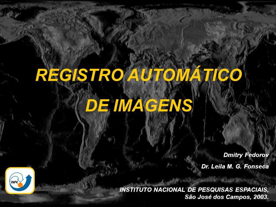 REGISTRO AUTOMÁTICO DE IMAGENS Dmitry Fedorov Dr. Leila M. G. Fonseca INSTITUTO NACIONAL DE PESQUISAS ESPACIAIS, São José dos Campos, 2003.