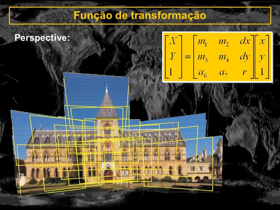 Função de transformação Perspective: