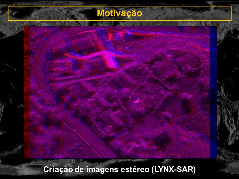 Motivação Ampliação da área imageada (seqüência de fotos aéreas)