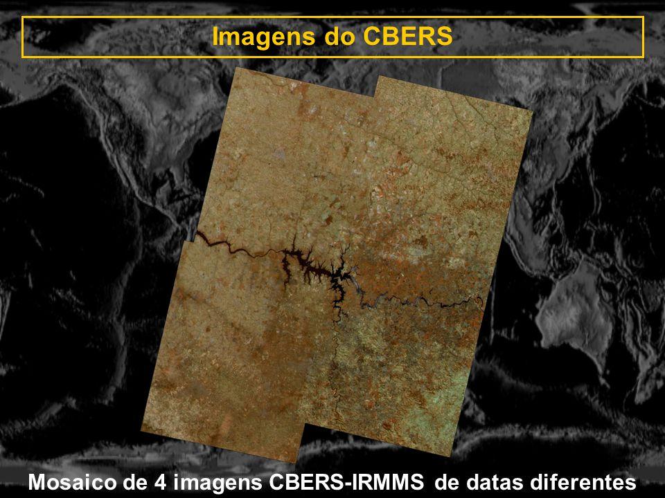 Imagens do CBERS Mosaico de 4 imagens CBERS-IRMMS de datas diferentes