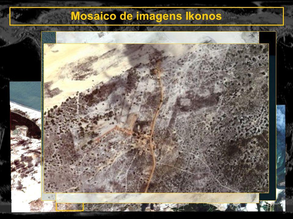Mosaico de imagens Ikonos _
