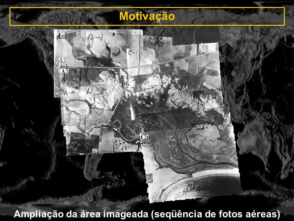 Testes do sistema ImagensMétodo waveletsMétodo padrão Radar, JERS-1 (10/10/95) + (08/13/96) Amazônia, floresta (512*512)(512*512) Tempo: 3185ms C.P.: 53 RMSE: 0.7648 Tempo: 6099ms C.P.: 6 (de 300) RMSE: 1.0000 SPOT band 3 + TM band 4 (08/08/95) + (06/07/94) Cidade Brasília (512*512)(512*512) Tempo: 3325ms C.P.: 29 RMSE: 0.8710 Tempo: 5889ms C.P.: 6 (de 300) RMSE: 1.8257 TM band 5 (06/07/92) + (07/15/94) Amazônia, floresta (512*512)(512*512) Tempo: 3104ms C.P.: 188 RMSE: 0.5359 Tempo: 2914ms C.P.: 4 (de 128) RMSE: 0.7071 Comparação entre os métodos padrão e wavelets: