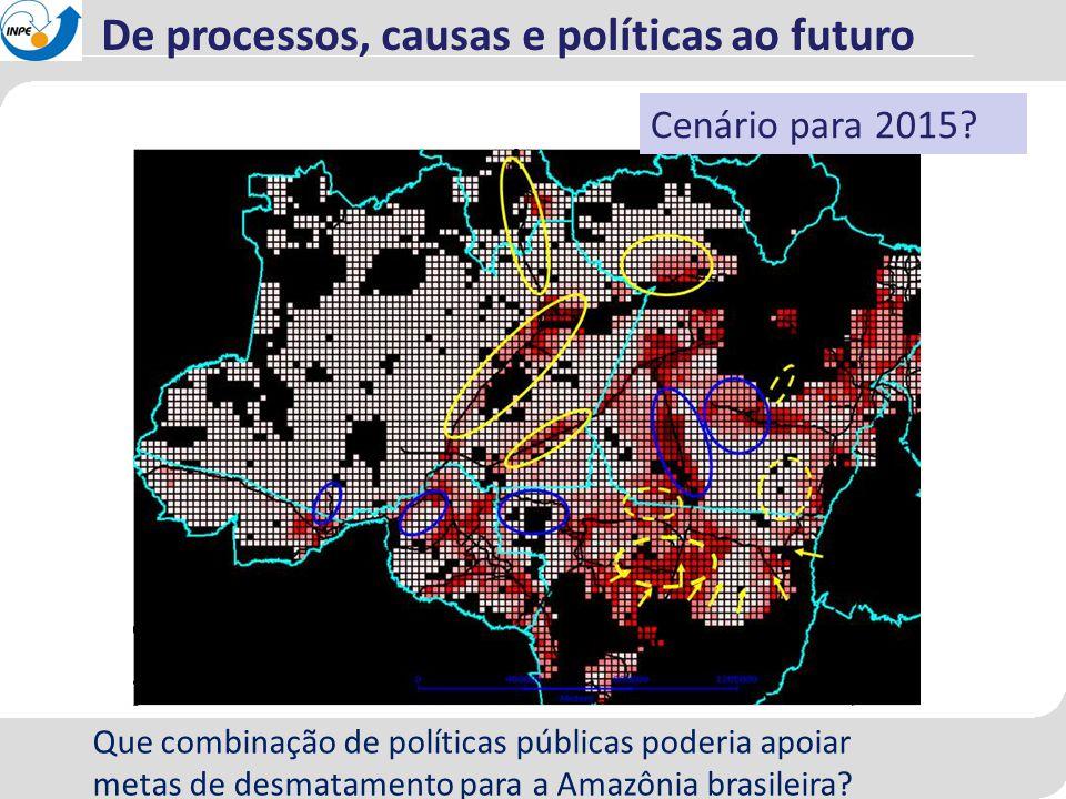 Que combinação de políticas públicas poderia apoiar metas de desmatamento para a Amazônia brasileira? Cenário para 2015? De processos, causas e políti