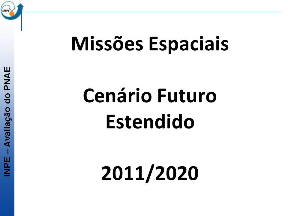 INPE – Avaliação do PNAE Missões Espaciais Cenário Futuro Estendido 2011/2020