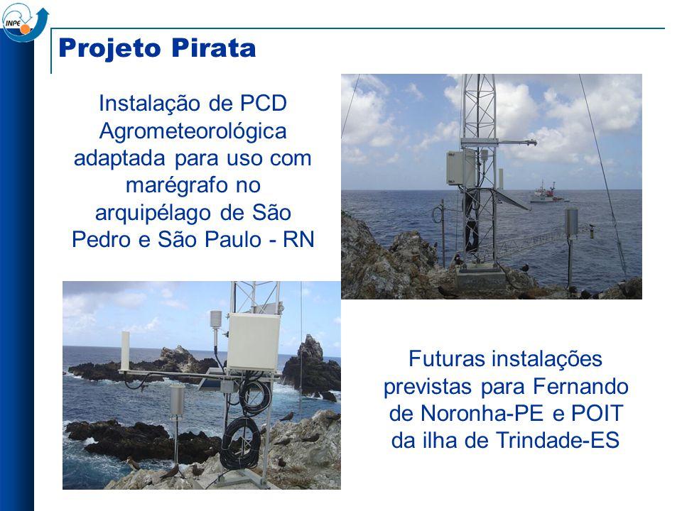 Projeto Pirata Instalação de PCD Agrometeorológica adaptada para uso com marégrafo no arquipélago de São Pedro e São Paulo - RN Futuras instalações pr