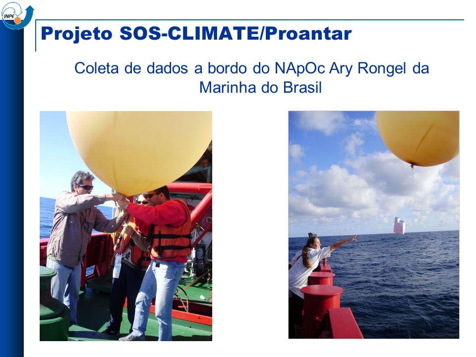 Projeto SOS-CLIMATE/Proantar Coleta de dados a bordo do NApOc Ary Rongel da Marinha do Brasil