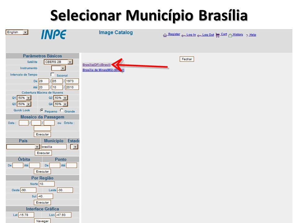 Selecionar Município Brasília