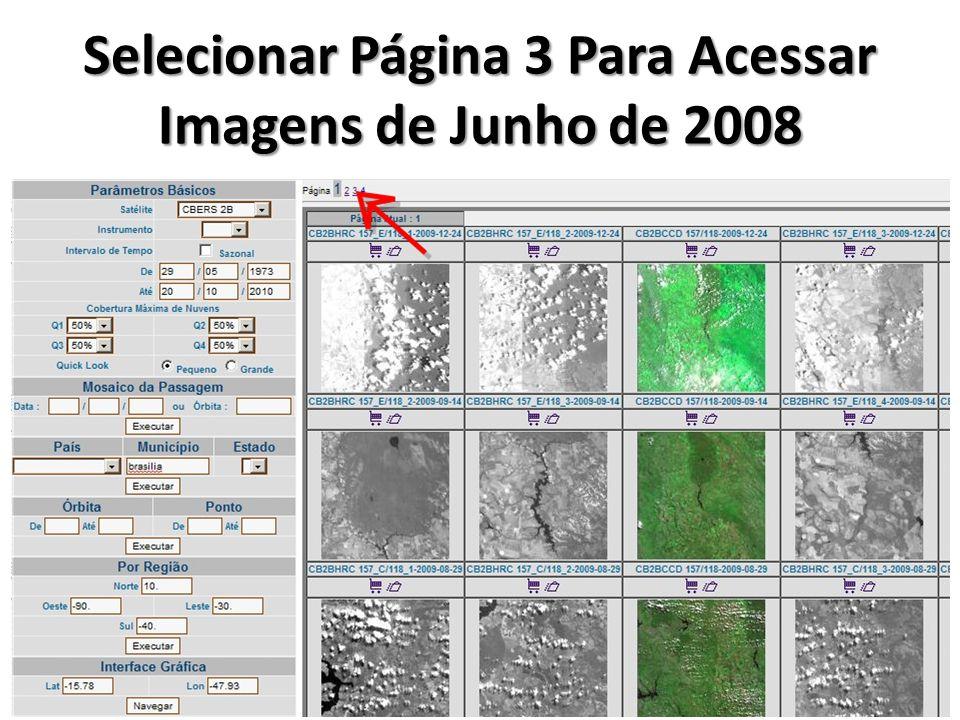 Selecionar Página 3 Para Acessar Imagens de Junho de 2008