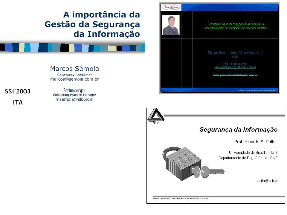6) Organizando a Segurança da Informação; Objetivo: Gerenciar a segurança da informação dentro da organização.