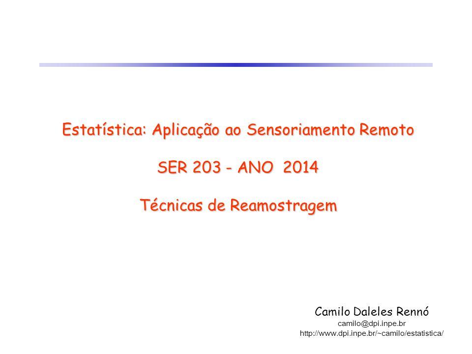 Estatística: Aplicação ao Sensoriamento Remoto SER 203 - ANO 2014 Técnicas de Reamostragem Camilo Daleles Rennó camilo@dpi.inpe.br http://www.dpi.inpe
