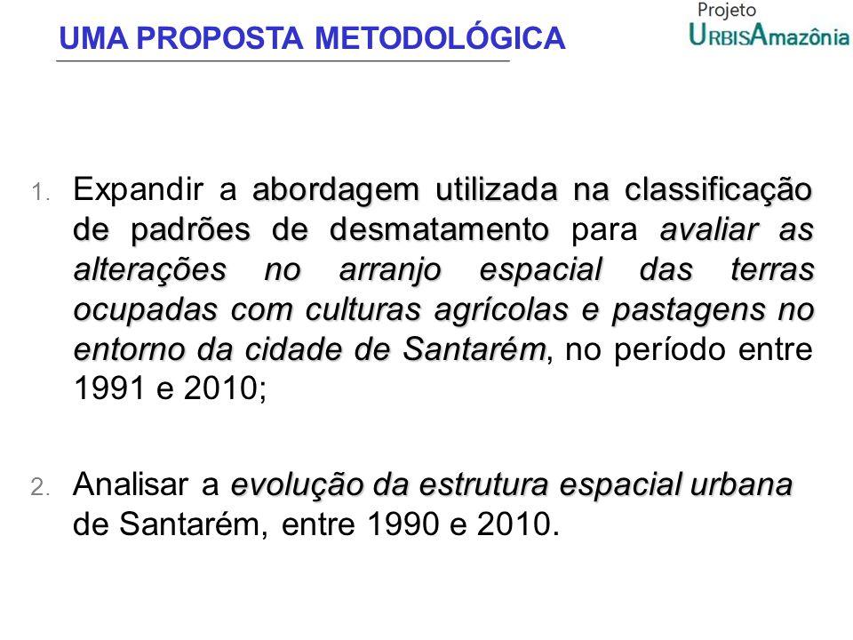 UMA PROPOSTA METODOLÓGICA abordagem utilizada na classificação de padrões de desmatamentoavaliar as alterações no arranjo espacial das terras ocupadas