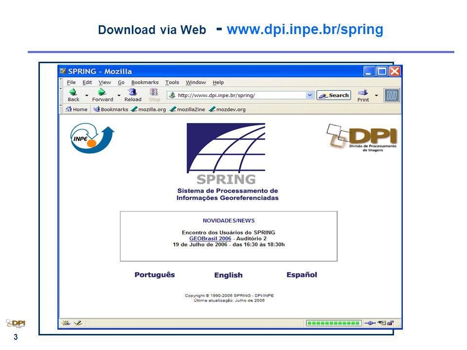 3 Download via Web - www.dpi.inpe.br/spring