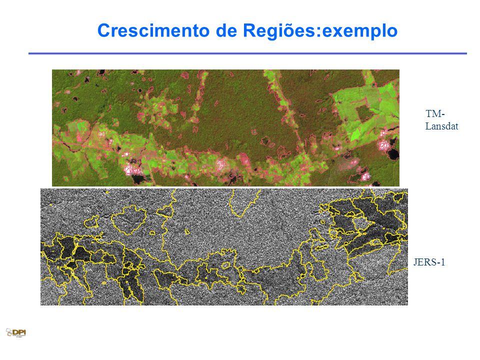 Crescimento de Regiões:exemplo TM- Lansdat JERS-1