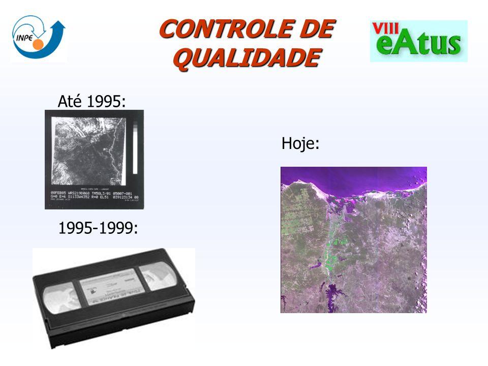 Pedidos por País de 2006-04-01 até 2006-10-13 (Satélite CBERS2) Até 1995: 1995-1999: CONTROLE DE QUALIDADE Hoje:
