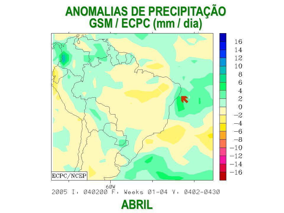 ABRIL ANOMALIAS DE PRECIPITAÇÃO GSM / ECPC (mm / dia)