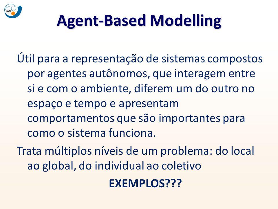 Agent-Based Modelling Útil para a representação de sistemas compostos por agentes autônomos, que interagem entre si e com o ambiente, diferem um do ou