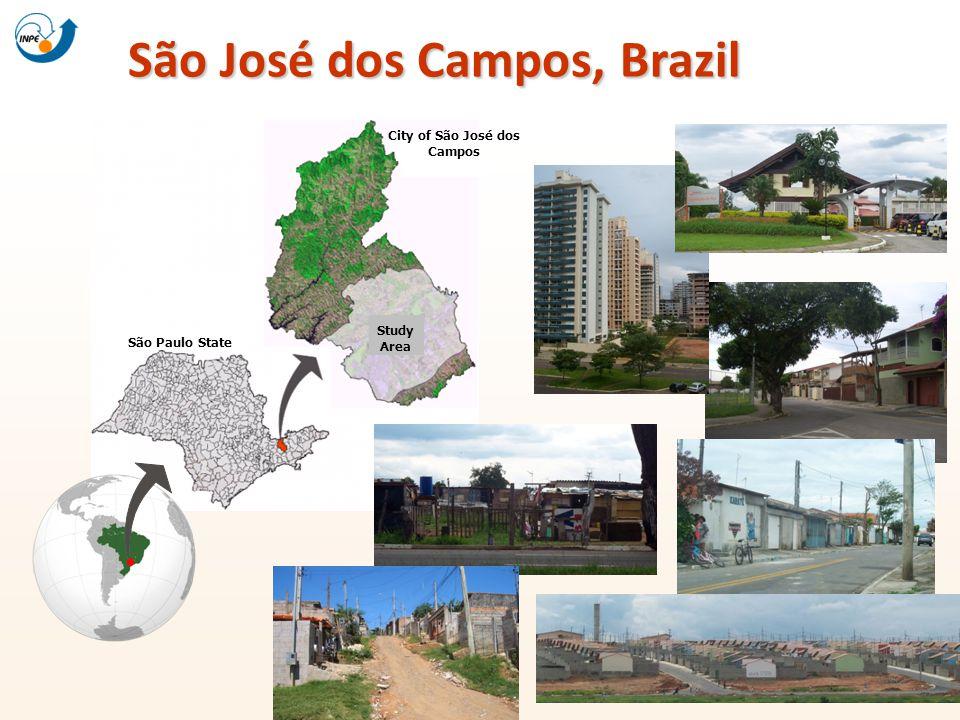 São José dos Campos, Brazil São Paulo State Study Area City of São José dos Campos