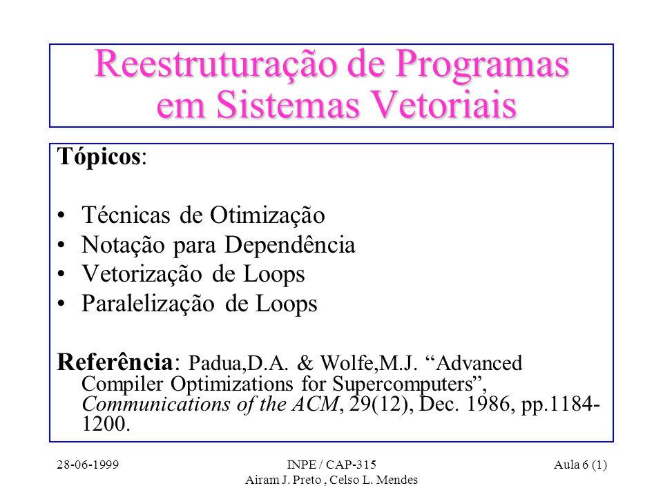 28-06-1999INPE / CAP-315 Airam J. Preto, Celso L.