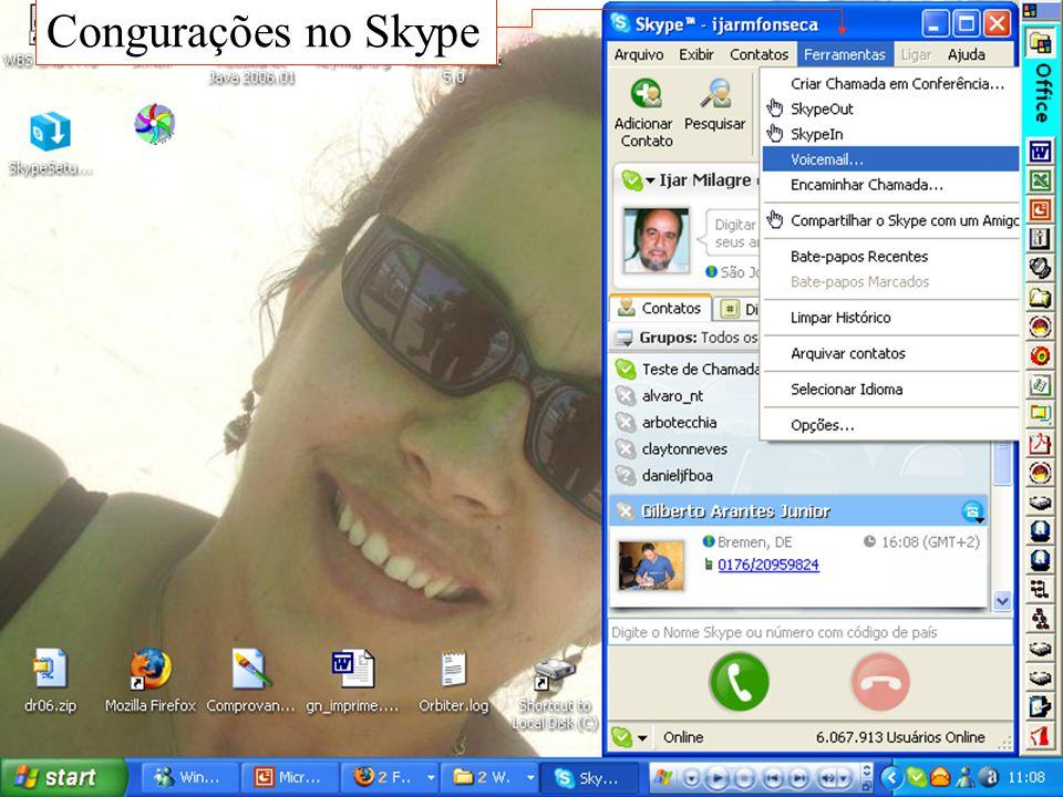 Congurações no Skype