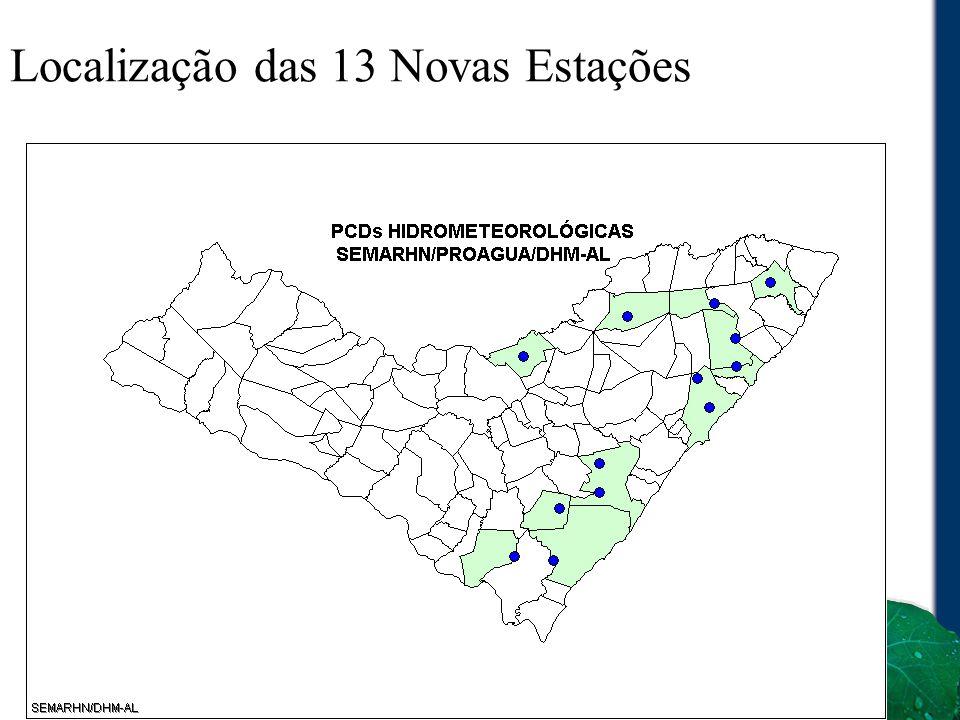 Localização das 13 Novas Estações