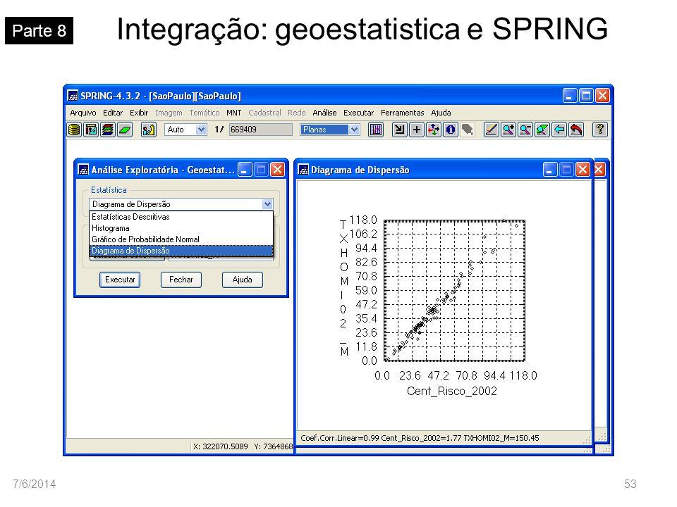 Integração: geoestatistica e SPRING Parte 8 7/6/201453