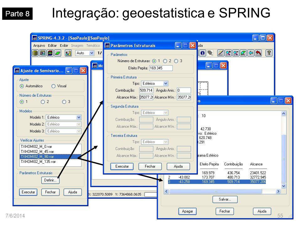 Integração: geoestatistica e SPRING Parte 8 7/6/201455