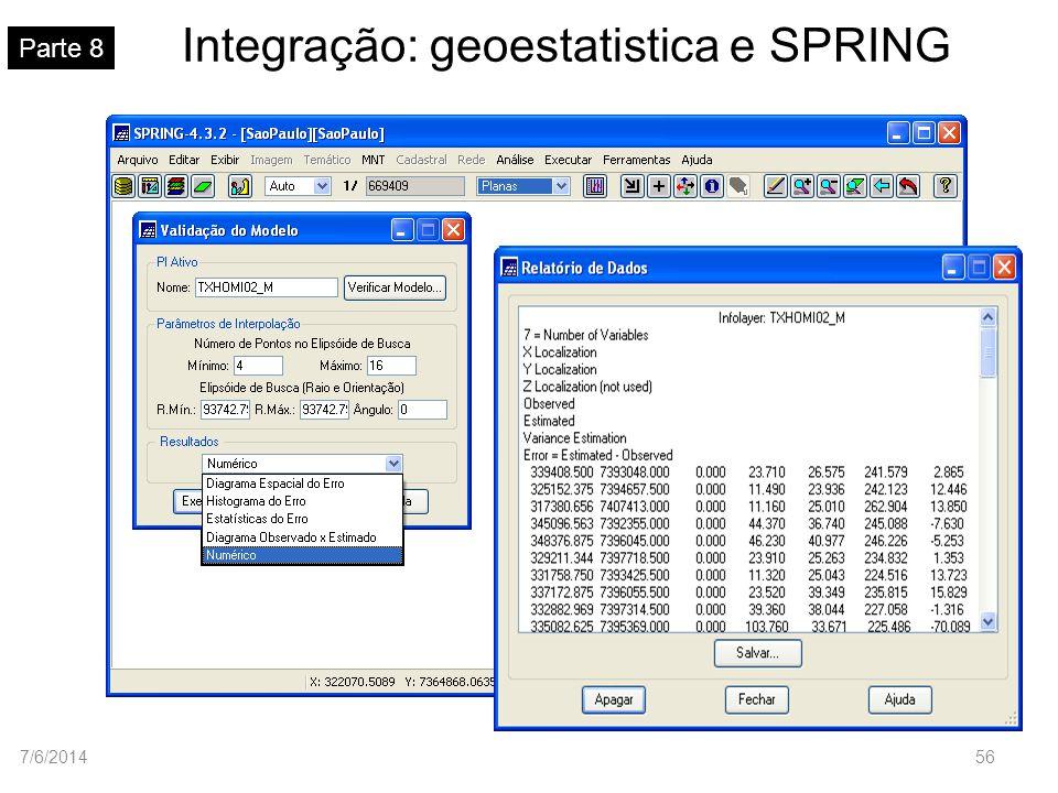 Integração: geoestatistica e SPRING Parte 8 7/6/201456