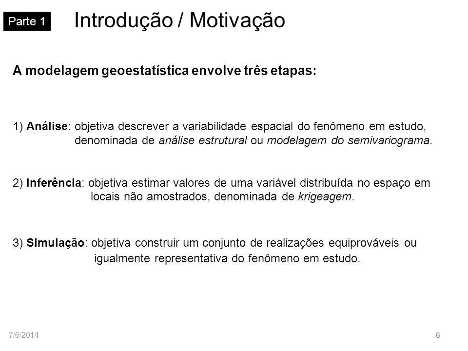 Principais conceitos teóricos Parte 2 Hipótese de estacionariedade intrínseca 1) E[Z(u) Z(u h)]=0, u A.