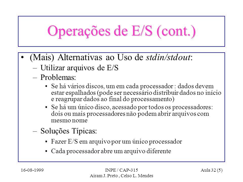 16-08-1999INPE / CAP-315 Airam J.Preto, Celso L.