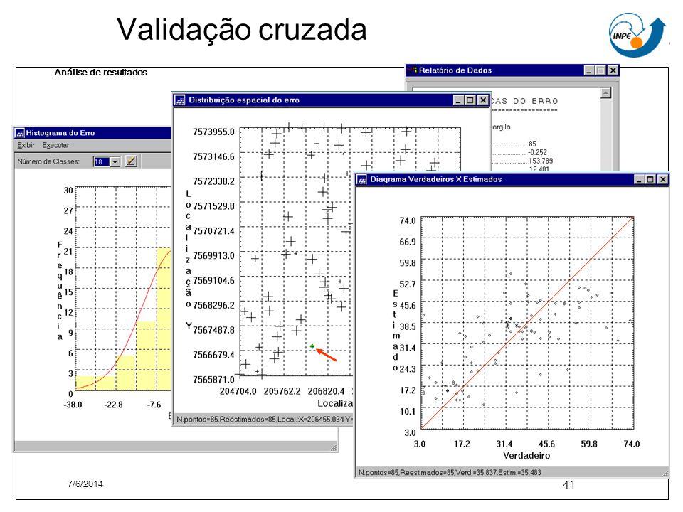 Validação cruzada Análise de resultados 7/6/2014 41