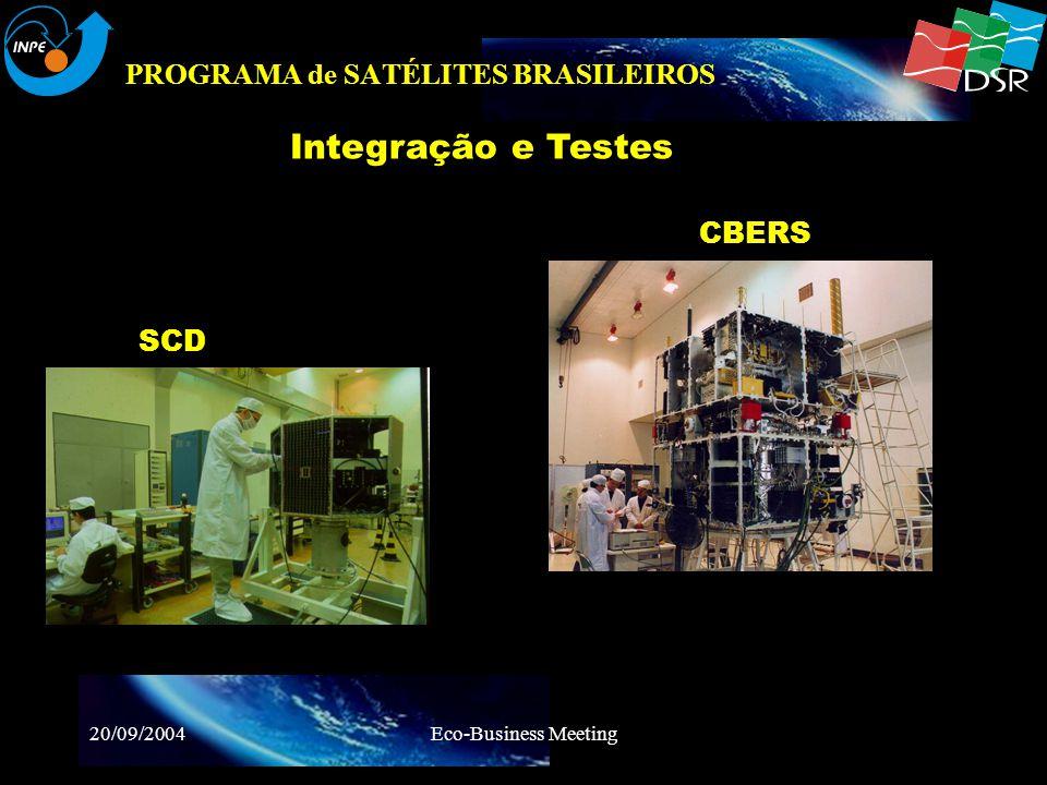 20/09/2004Eco-Business Meeting PROGRAMA de SATÉLITES BRASILEIROS Integração e Testes Compatibilidade Eletromagnética SCD Momento Eletromagnético