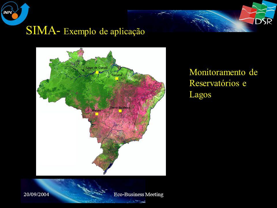 20/09/2004Eco-Business Meeting SIMA- Exemplo de aplicação Monitoramento do Reservatório de Manso Pressão Atmosférica