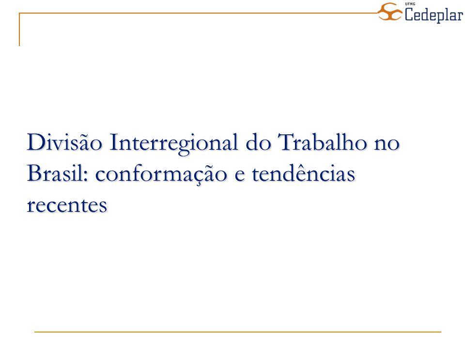 Divisão Interregional do Trabalho no Brasil: conformação e tendências recentes