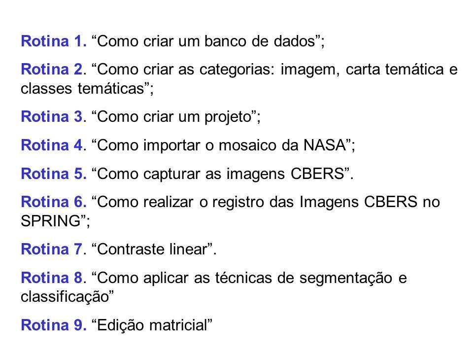 O módulo PROCESSAMENTO DE IMAGENS dos nossos cursos é composto pelas seguintes Rotinas: