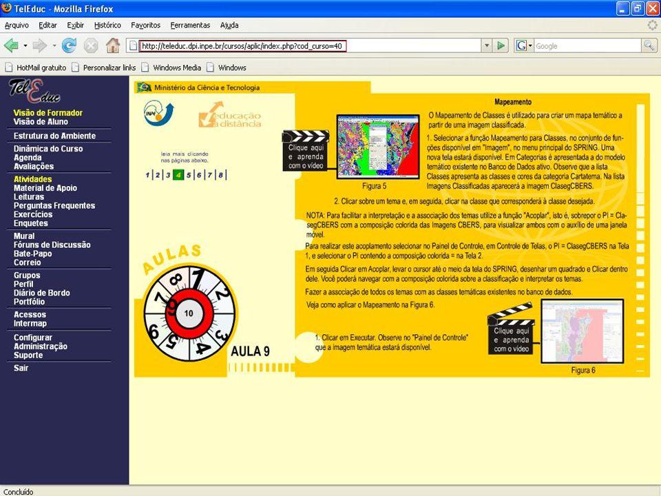 Rotina 1. Como criar um banco de dados; Rotina 2. Como criar as categorias: imagem, carta temática e classes temáticas; Rotina 3. Como criar um projet