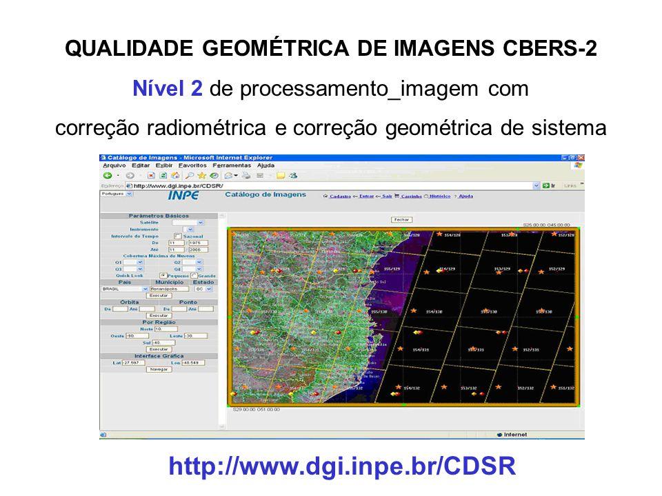 CÂMERA PANCROMÁTICA DE ALTA RESOLUÇÃO HRC CBERS-2B Imagens de uma faixa de 27 km de largura e resolução espacial de 2,7 m (região espectral pancromáti