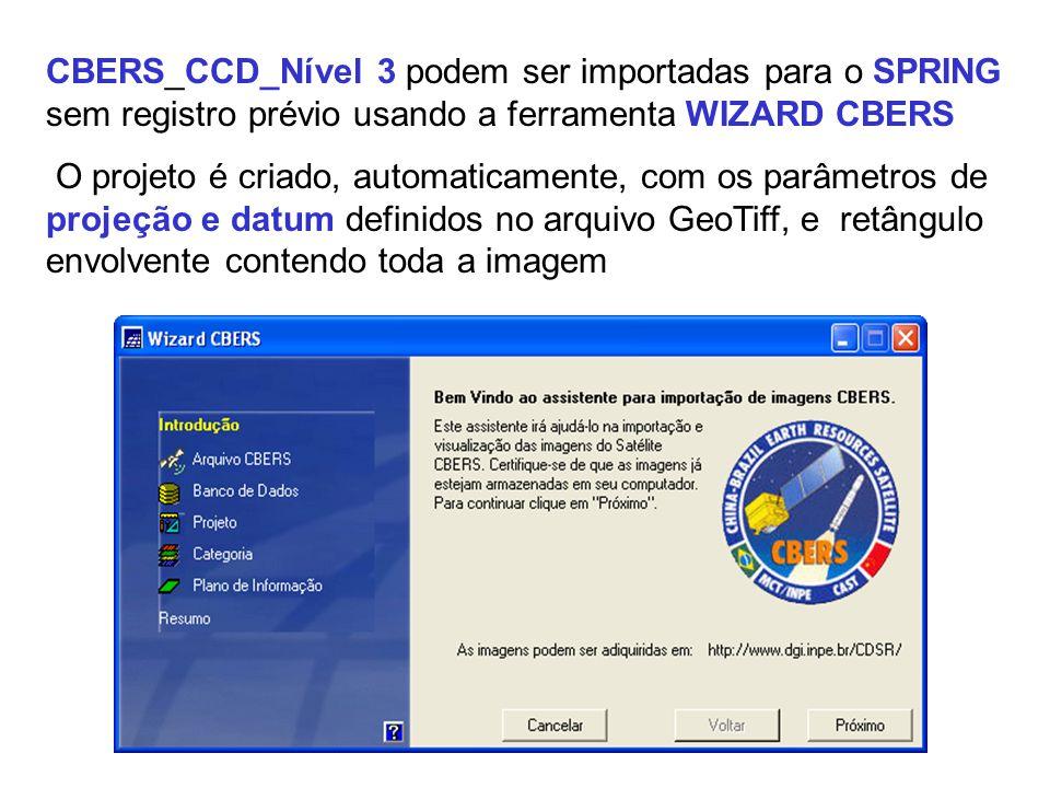 MEDIDAS DE QUALIDADE GEOMÉTRICA DA IMAGEM CCD_Nível 3_produto em fase de teste