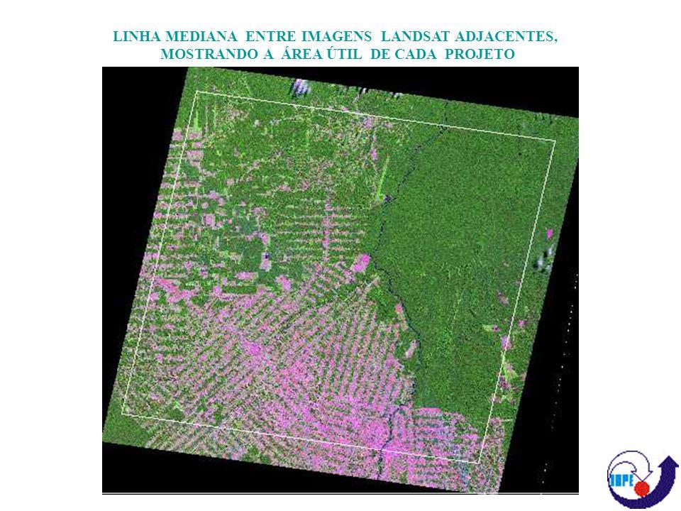 REDUZIR DIMENSIONALIDADE DA IMAGEM TM (RGB) ATRAVÉS DA CRIAÇÃO DA IMAGEM FRAÇÃO-SOMBRA, ALÉM DE PERMITIR A DISCRIMINAÇÃO DE TEMAS Desmatamento Típico Rebrota Queimada Floresta Primária DISCRIMINAÇÃO DA DRENAGEM