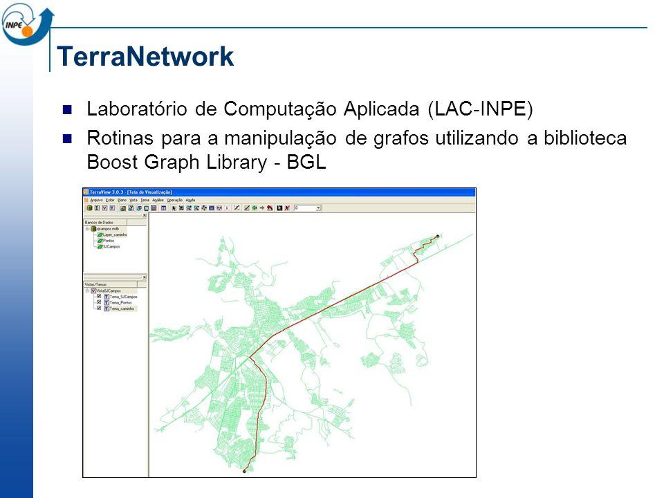 TerraNetwork Laboratório de Computação Aplicada (LAC-INPE) Rotinas para a manipulação de grafos utilizando a biblioteca Boost Graph Library - BGL