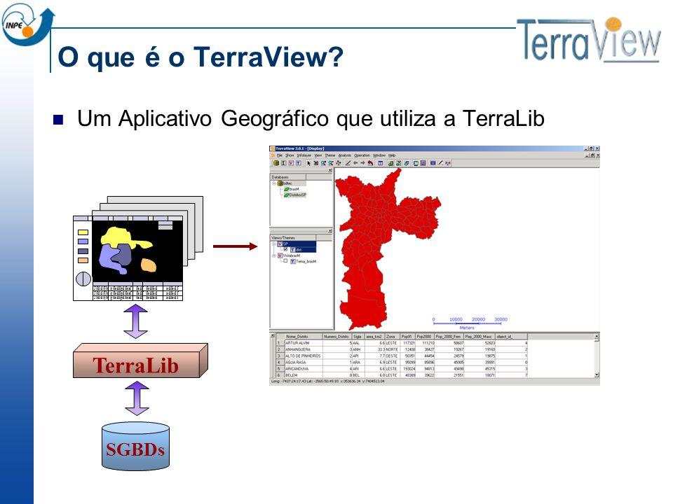 O que é o TerraView? Um Aplicativo Geográfico que utiliza a TerraLib SGBDs TerraLib Jfddfjh gfsdfgdfssf fsdf fsdfsd sdfsdf