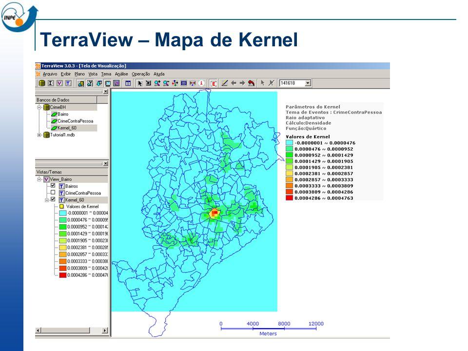 TerraView – Mapa de Kernel