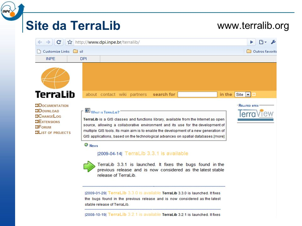 Site da TerraLib www.terralib.org