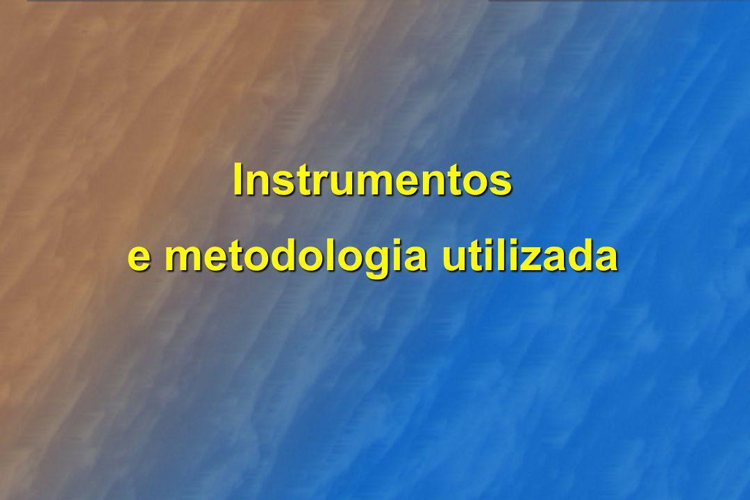 Instrumentos e metodologia utilizada